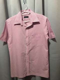 Wharton Pink-White Stripes Polo Shirt