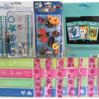 Mixed stationary and stickers