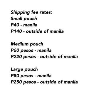 SHIPPING FEE RATES / POLICIES