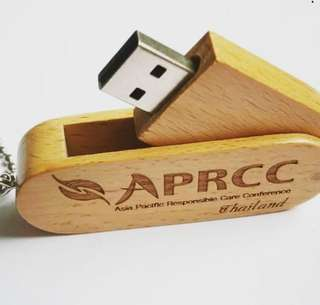 Wood usb flash drives for corporte giveaways with laser engraved logo