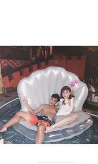 🚚 珍珠充氣浮床 泳圈