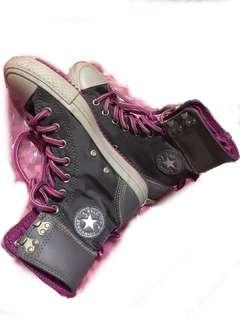 🚚 converse 高筒帆布鞋 All STAR 休閒鞋灰紫