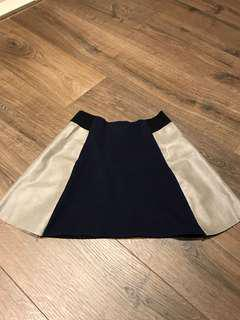 Blue and grey color skirt