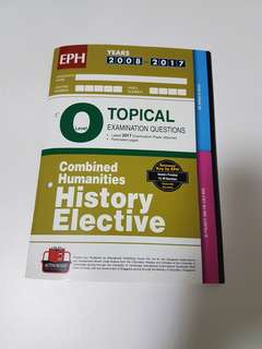 EPH Topical Examination Questions Combined Humanities History Elective