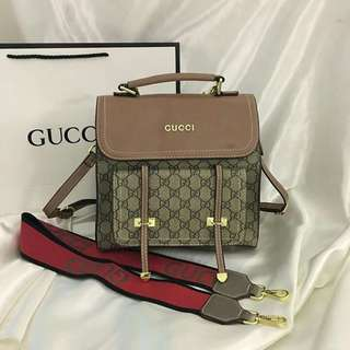 Gucci backpack with sling