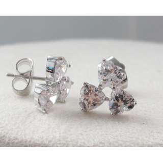 S925 silver earring with CZ 純銀鋯石耳環