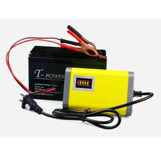 Car/Motorcycle Smart Battery Charger 12V 2A