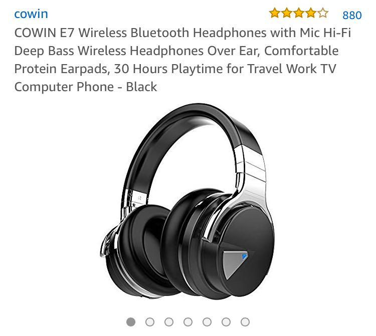d93af7725da 387•COWIN E7 Wireless Bluetooth Headphones with Mic Hi-Fi Deep Bass  Wireless Headphones Over Ear, Comfortable Protein Earpads, 30 Hours  Playtime for Travel ...