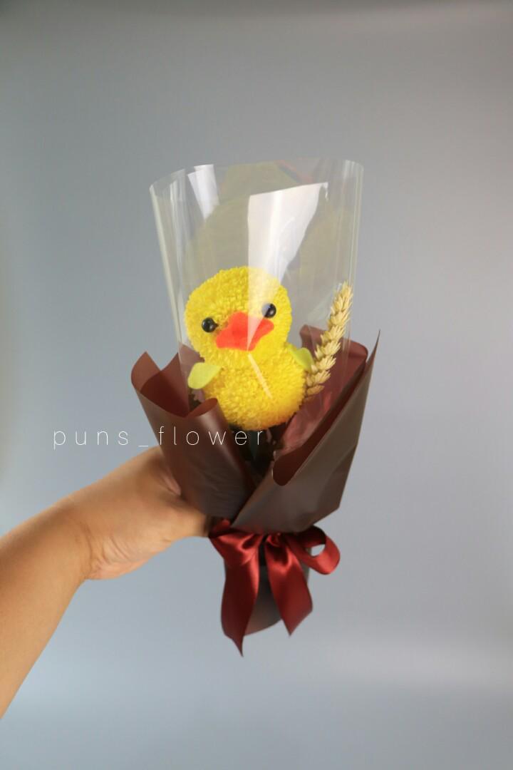 單支裝畢業小雞鮮花束