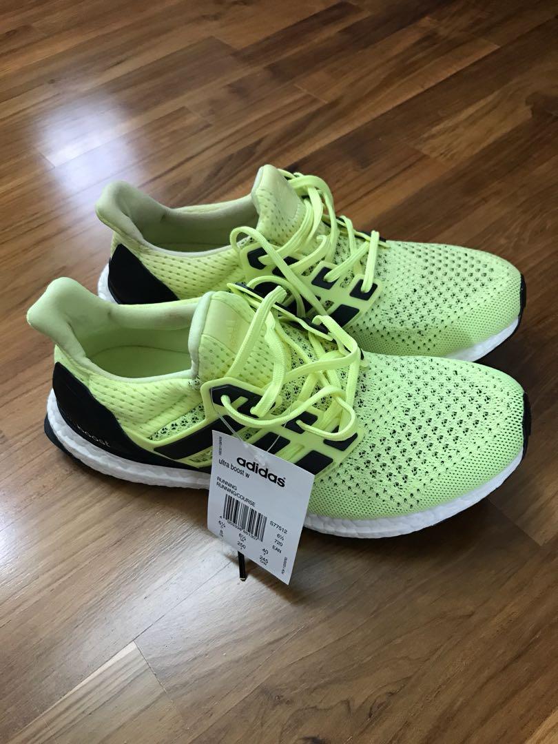 d5ecc473c040 Adidas Ultra Boost 1.0 Lime UK6.5 Women