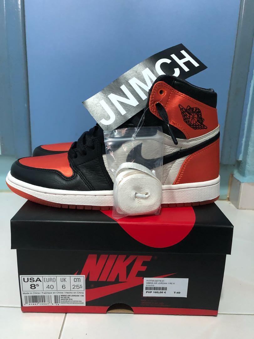 32d056c888a Air Jordan 1 Satin SBB, Men's Fashion, Footwear, Sneakers on Carousell