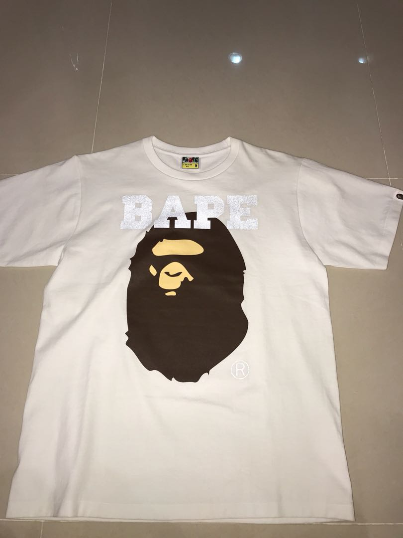 5574b92534bd Bape 3M reflective large Ape Head T Shirt