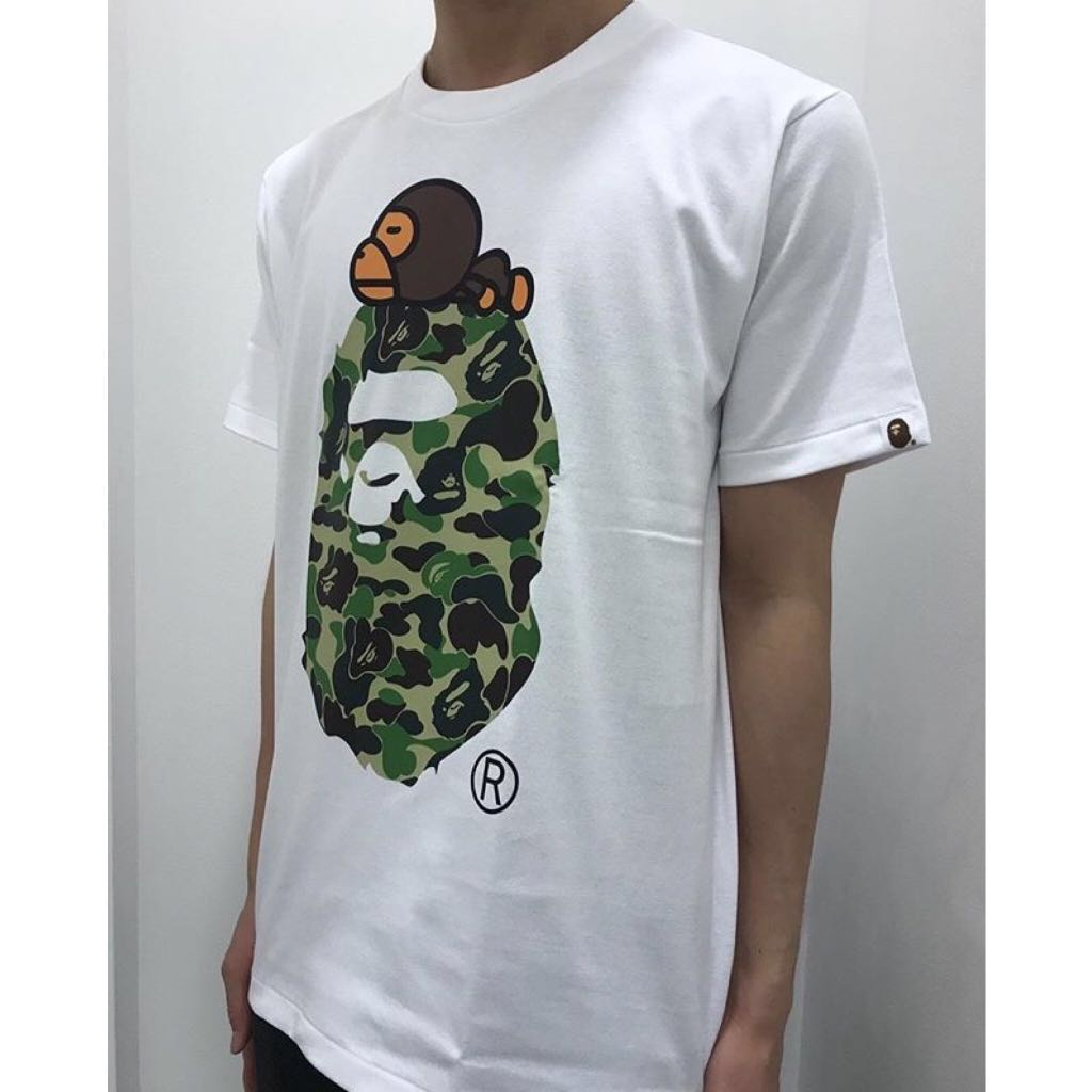 e38e0fffe442 BAPE ABC MILO ON APE HEAD TEE