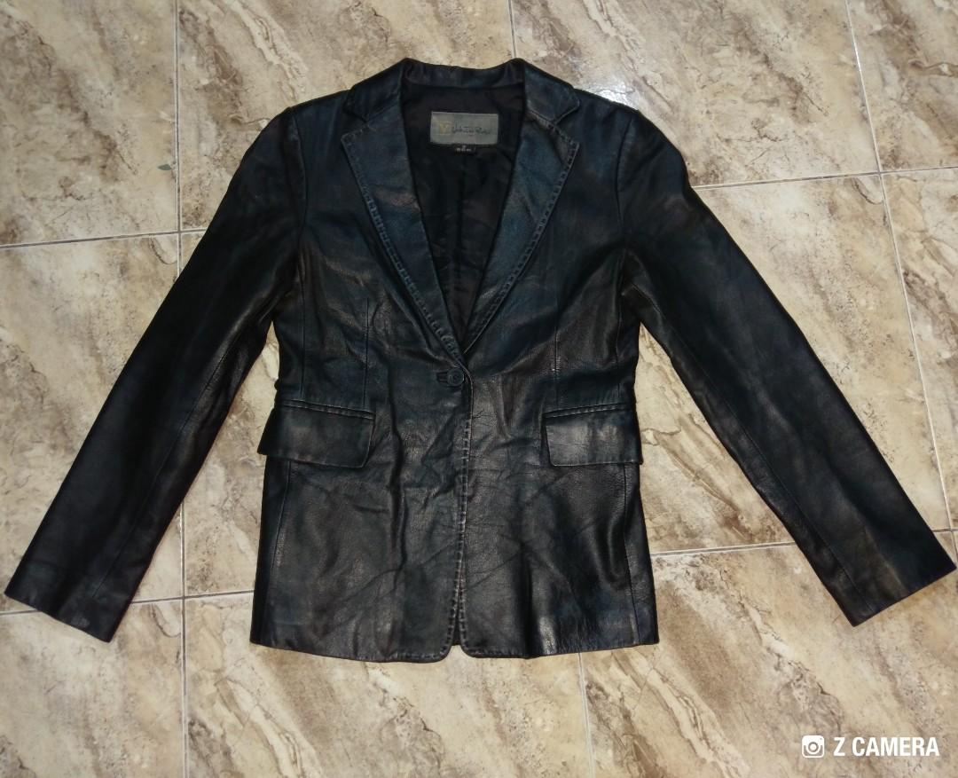 Italy Jacket Rudy Valentino Blazer Leather wkTOXZiuP