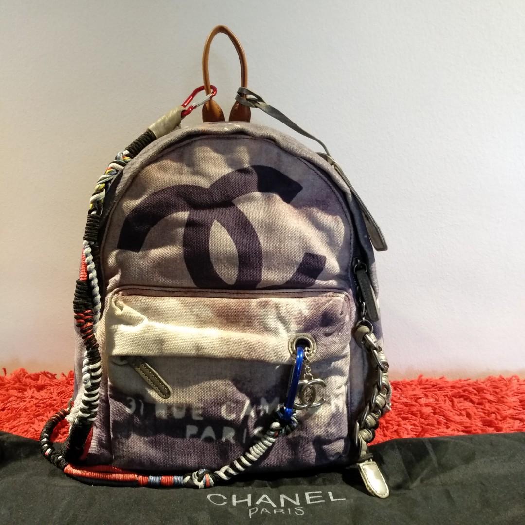 2b7896cb7b Chanel Canvas Graffiti Backpack- Fenix Toulouse Handball
