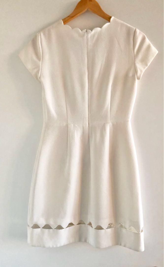 Club Monaco Milancey White Peekaboo Dress - Size 2