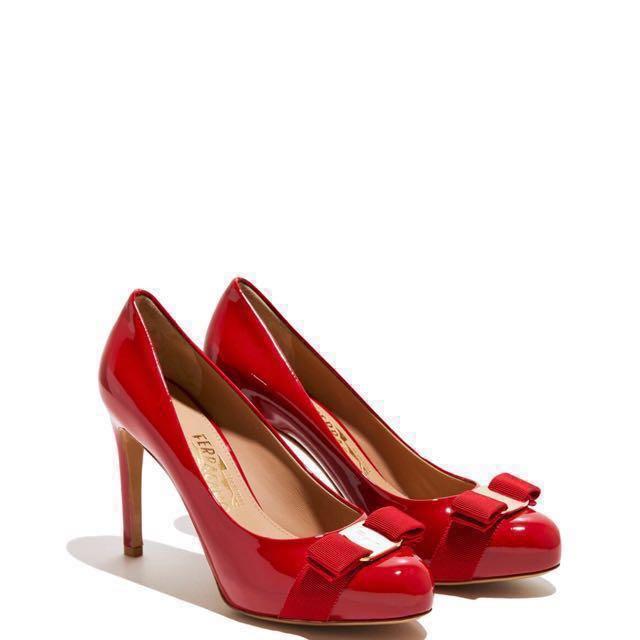 fd297f9749 GSS SALE] Salvatore Ferragamo - Pimpa Heels (VARA BOW PUMP SHOE ...