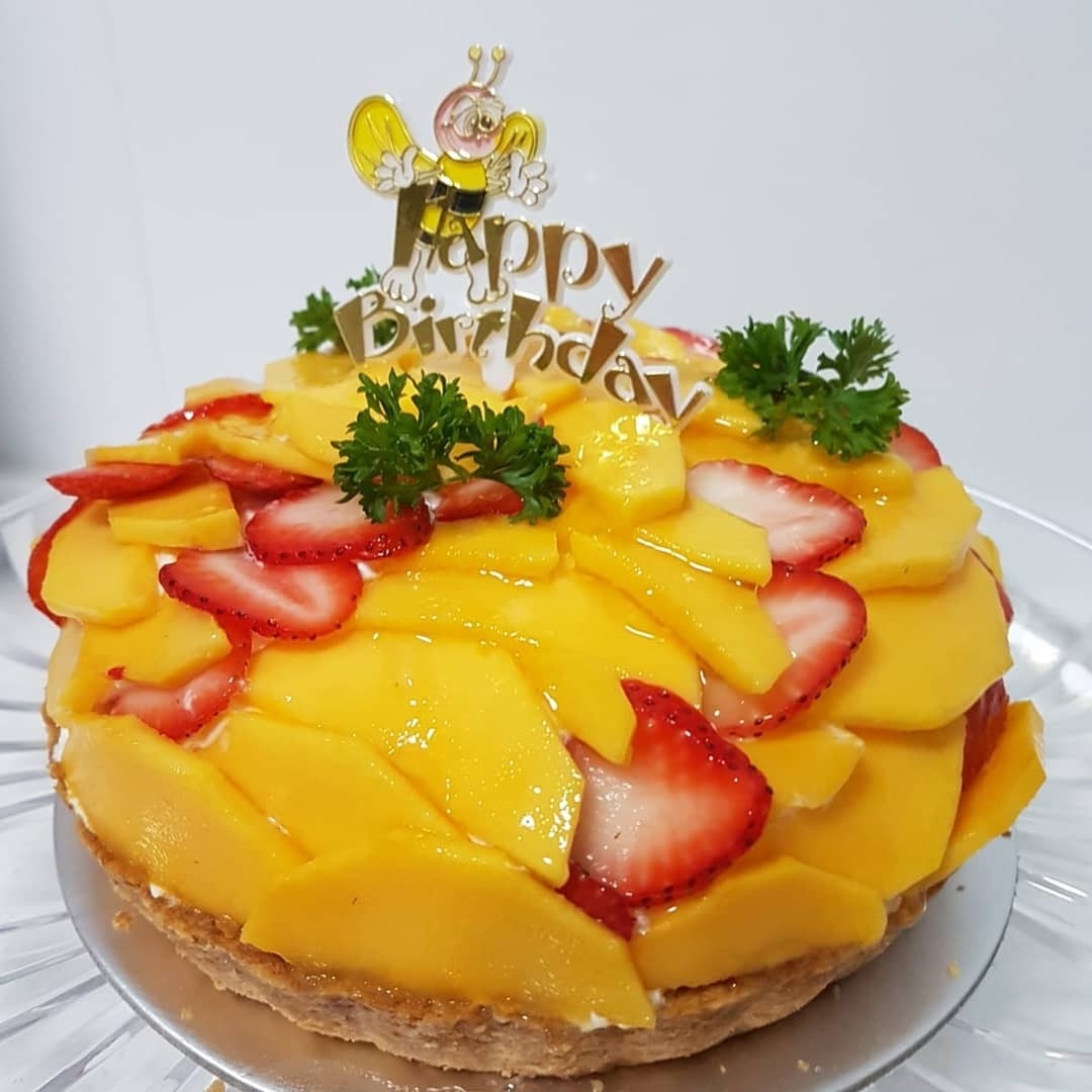 Happy Birthday With A Giant Fruit Tart Food Drinks Baked Goods