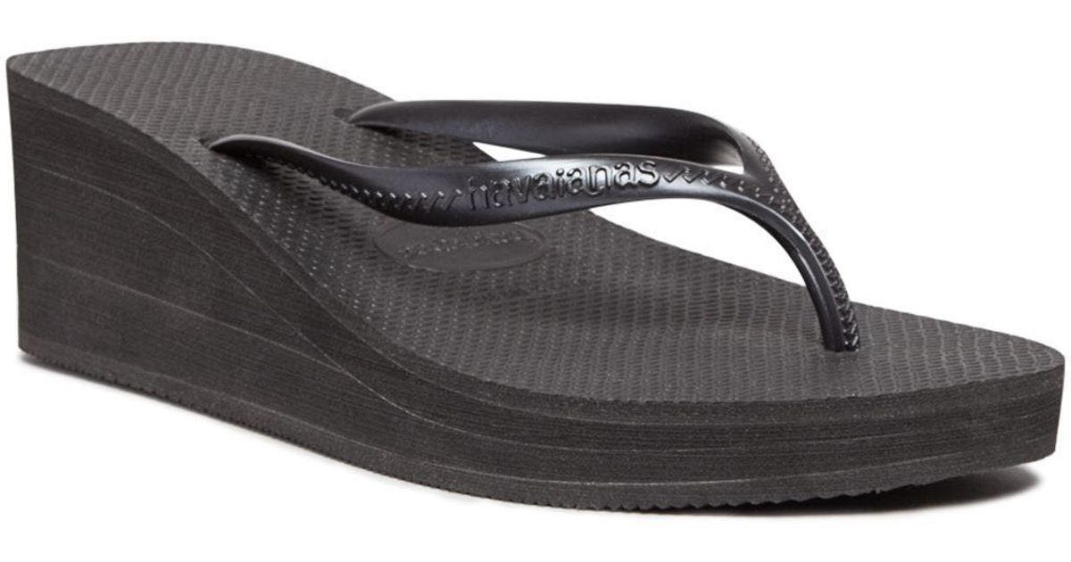 4038bb4bf Havaianas Highlight Wedges Flip Flop Rubber in Black (AUTHENTIC ...