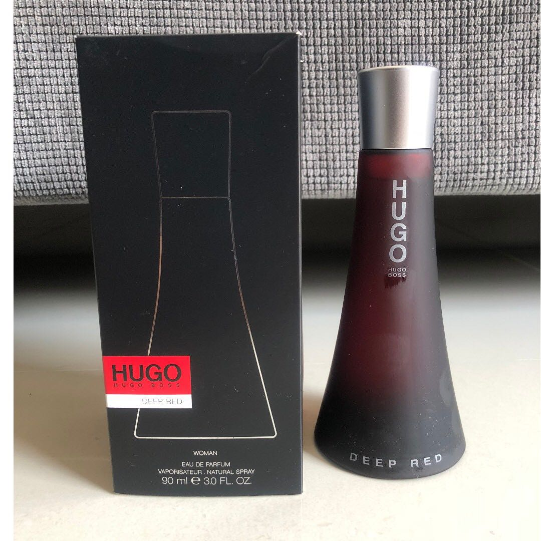 4313a039f44 Hugo Boss Deep Red Perfume 90ml *BRAND NEW* , Health & Beauty, Perfumes &  Deodorants on Carousell