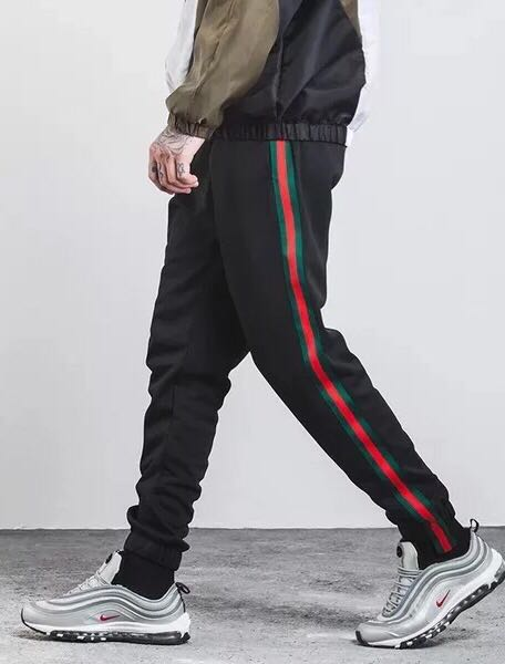 61b2db617 Jogger pants (Gucci colourway), Men's Fashion, Clothes, Bottoms on Carousell
