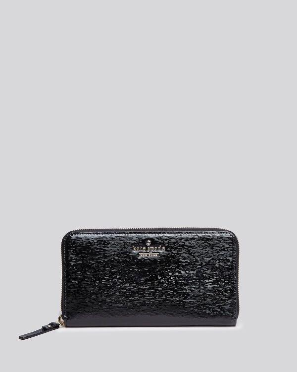 KATE SPADE FULL ZIP PATENT LEATHER WALLET