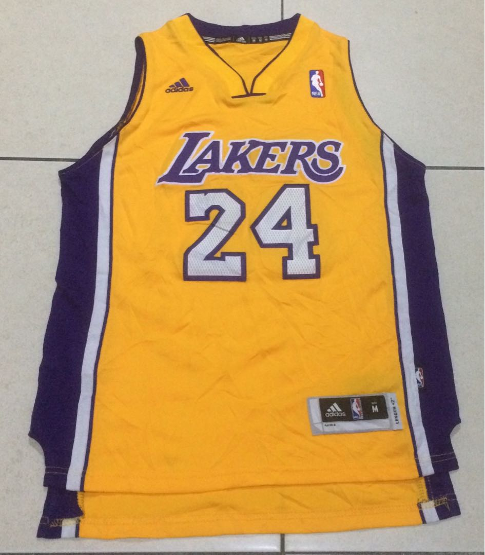 dd54c5a87a48 LA LAKERS Kobe Bryant Basketball Jersey Adidas Authentic