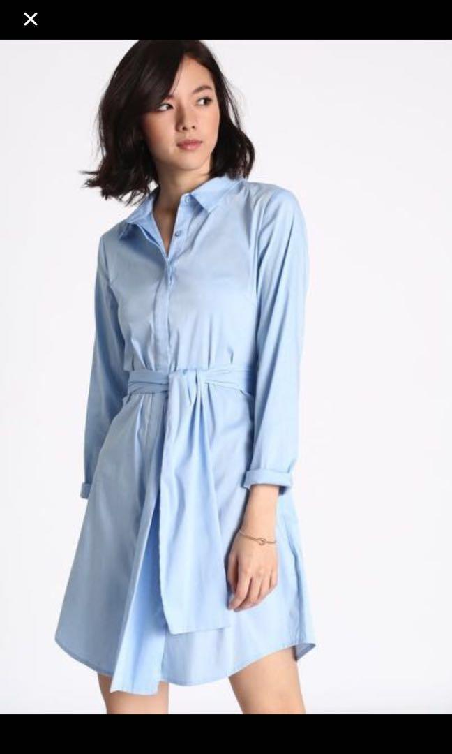 484aaa61ac6 Love bonito Scotlyn shirt dress in blue