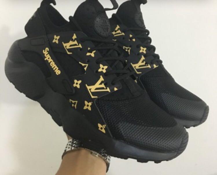 LV X Supreme X Nike huarache (black