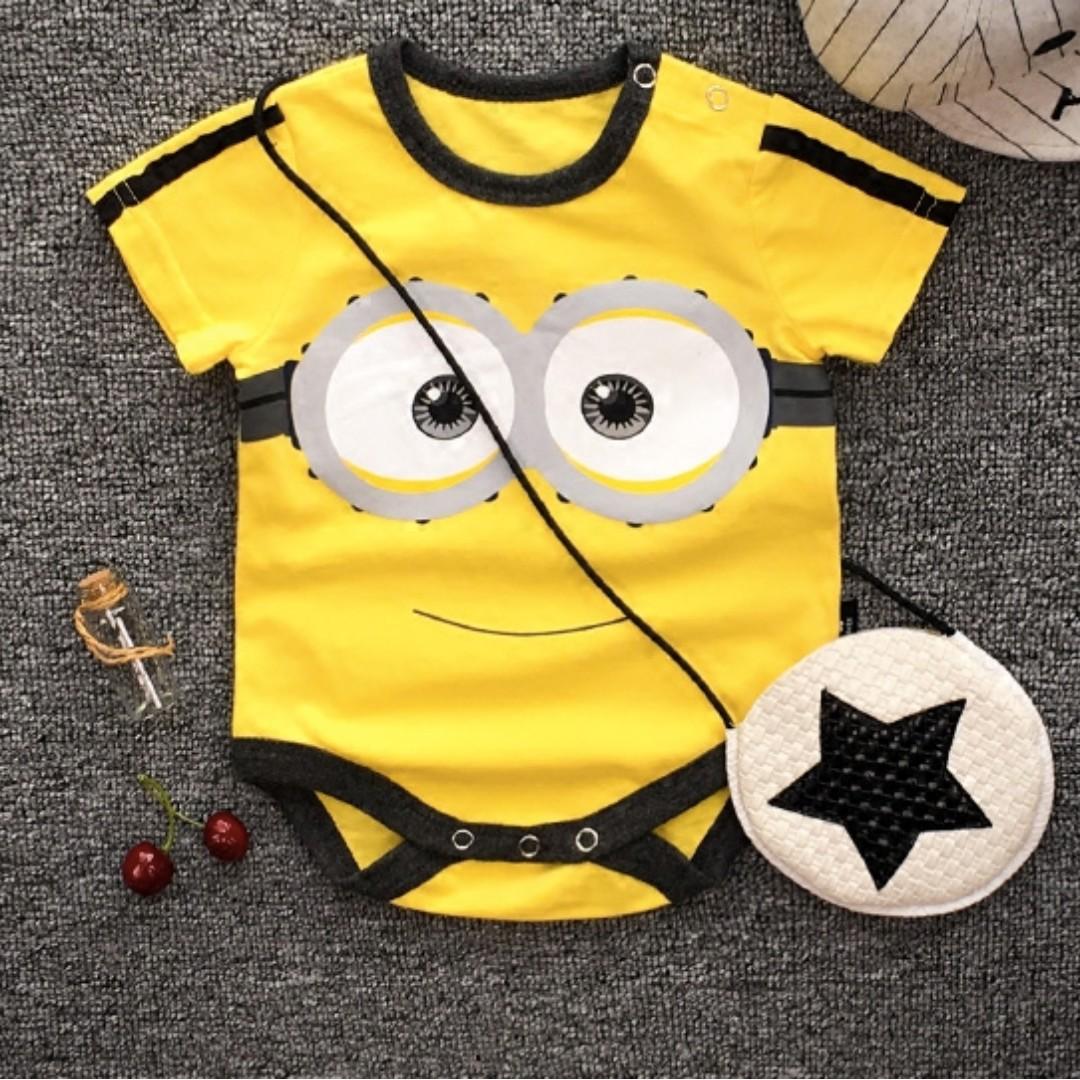 38f7e551b587 Minion Baby Romper Onesie