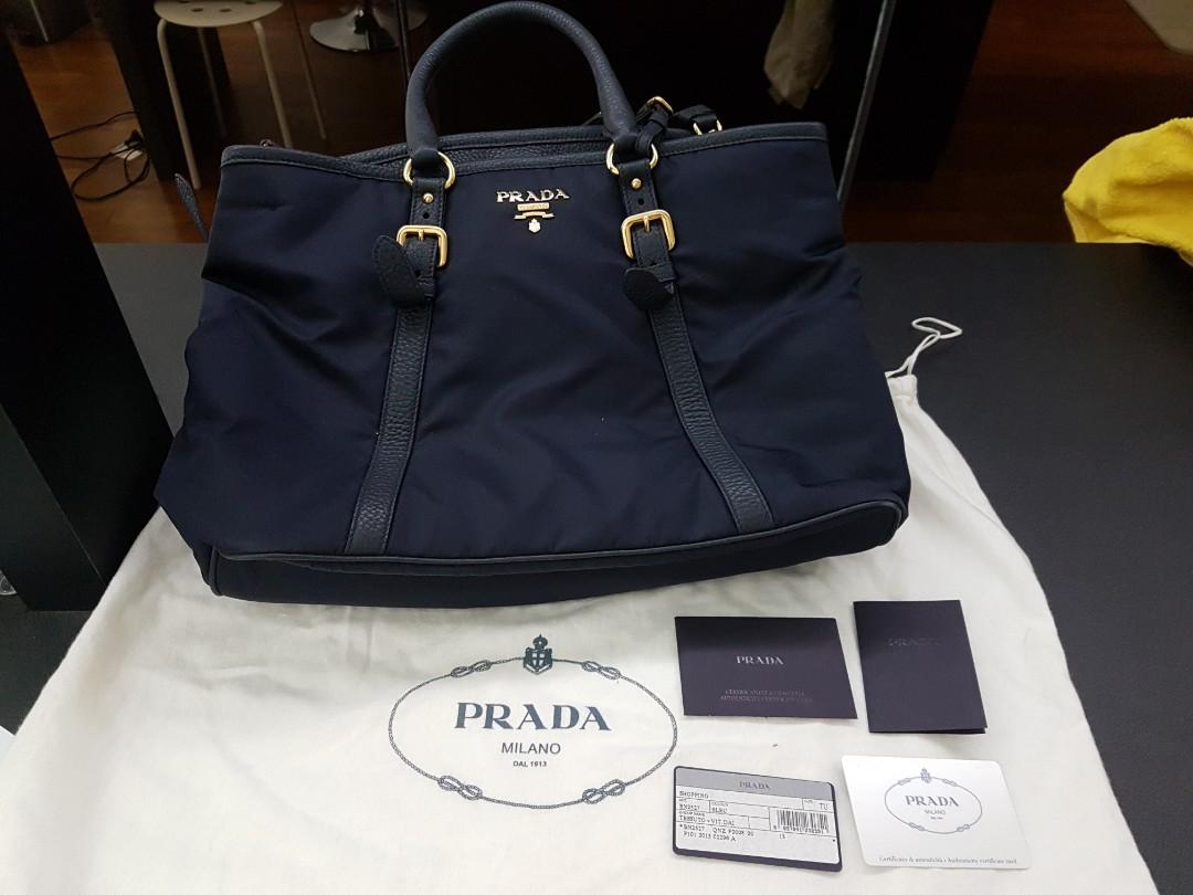 38714f51e96251 PRADA BN2527 Tessuto Vitello Daino Shopping Tote, Luxury, Bags & Wallets,  Handbags on Carousell