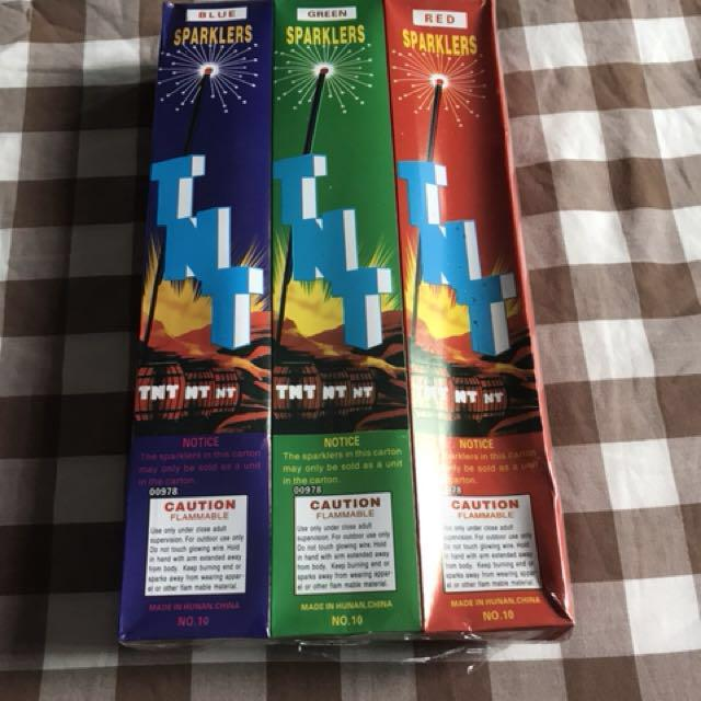 Sparklers - A Pack of 12 Boxes (60 Pieces)