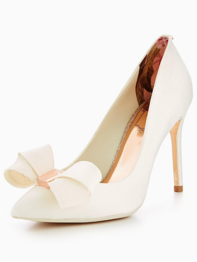 818e6581c Ted Baker Bow detail pointed courts - Ivory