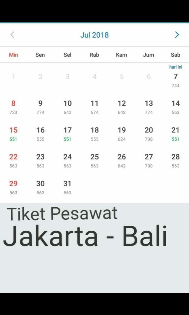 Tiket Pesawat Jakarta Bali Looking For On Carousell