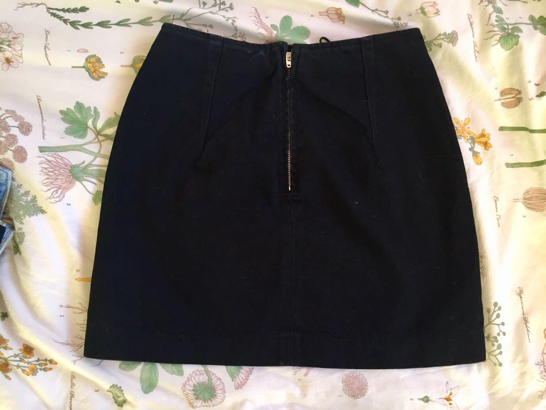 Topshop Lace-up Thigh Skirt (US 4 UK 8)
