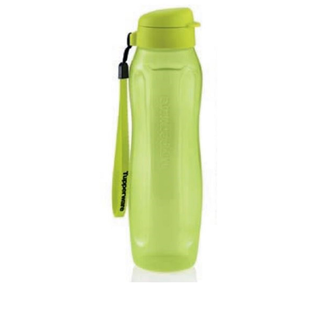 Tupperware Slim Eco Bottle (1) 1L with Strap - Green, Kitchen & Appliances on Carousell