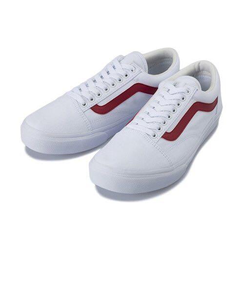 vans old skool white red
