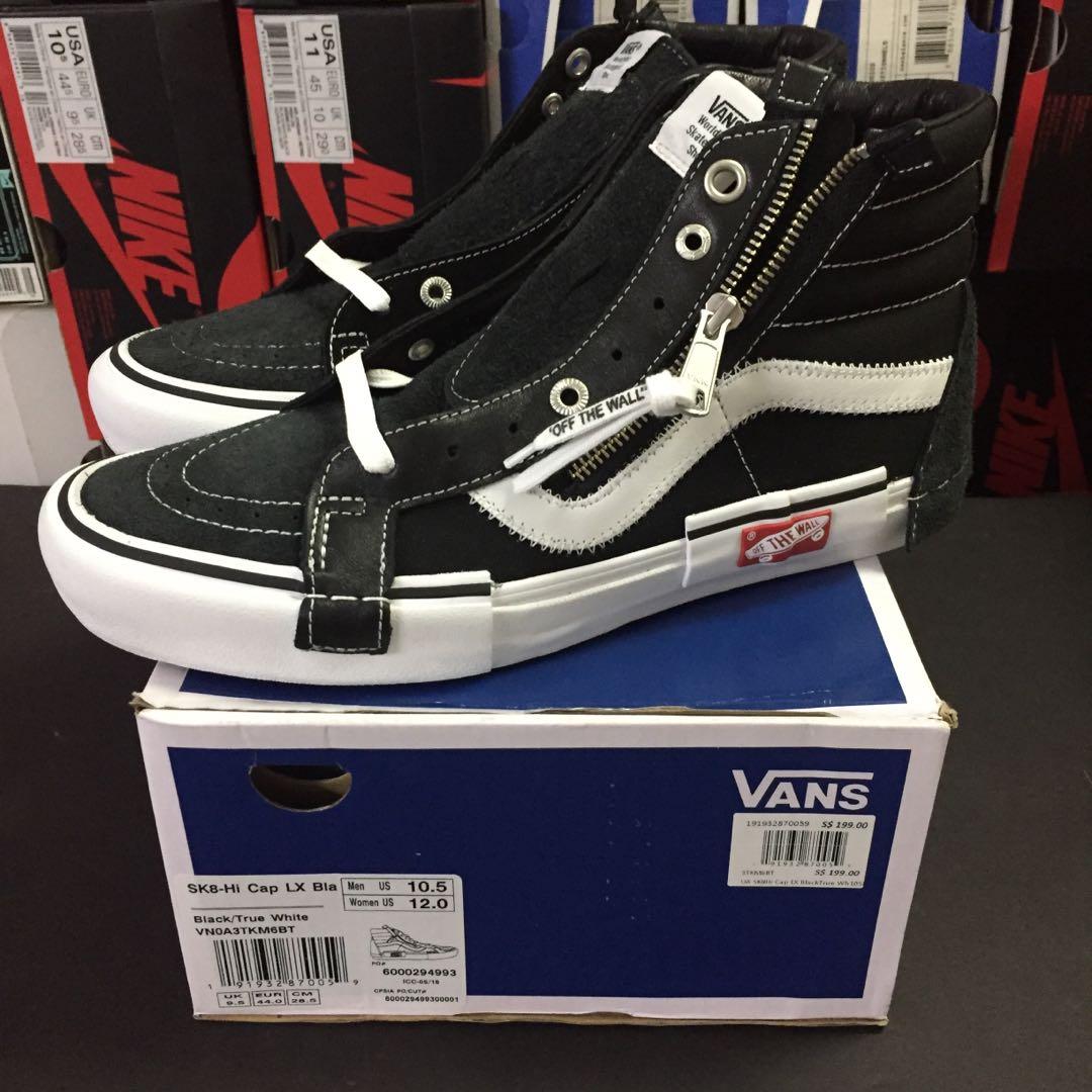 3ebac2a677 Vans Vault SK8 Hi Cut and Paste Inside Out Deconstructed Size 10.5 ...