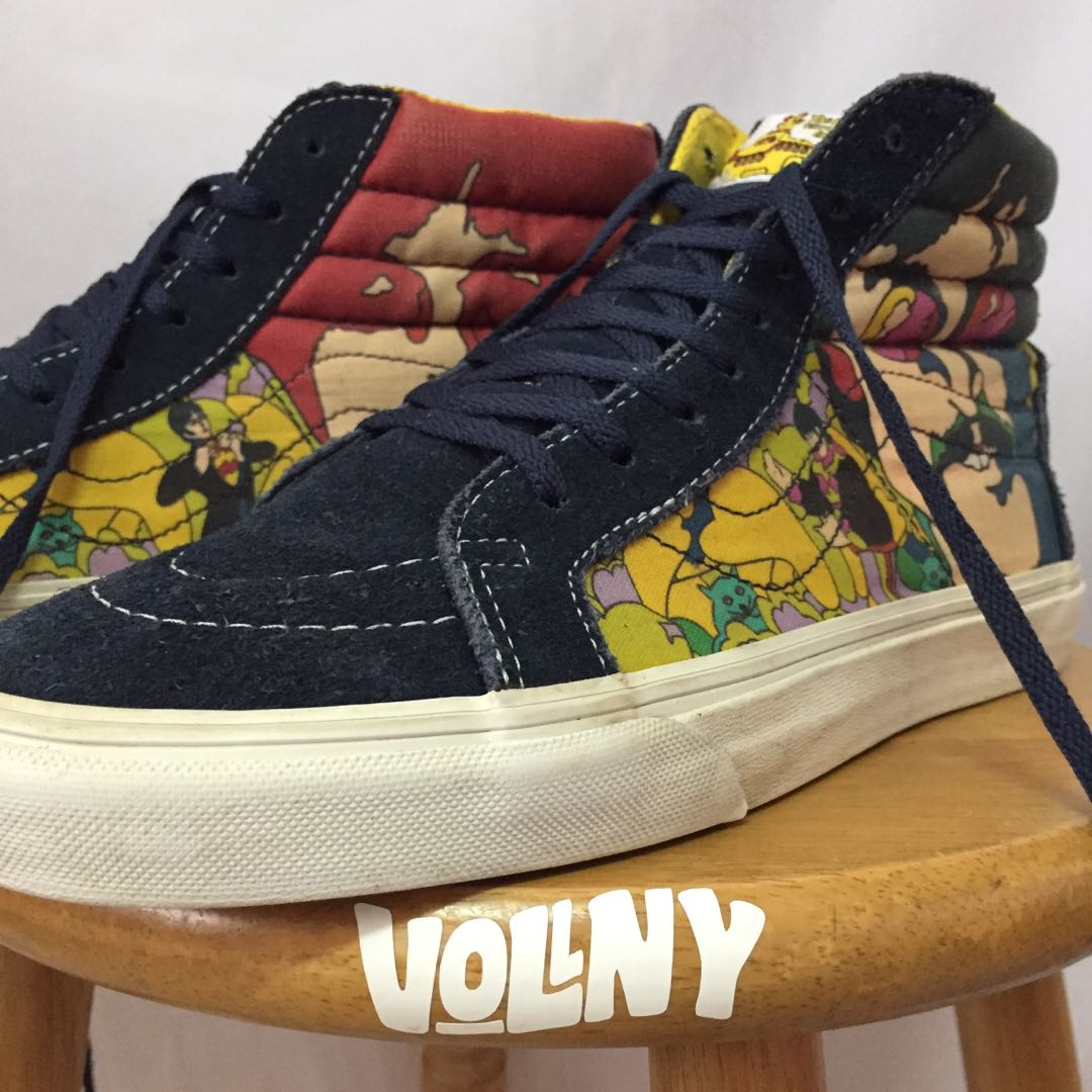 8ab8ab5ab7 Vans X The Beatles Sk8 Hi Yellow Submarine Collection