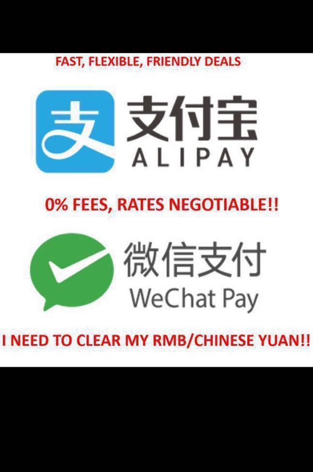 Wechat wallet / Alipay top up or withdrawal, Everything Else