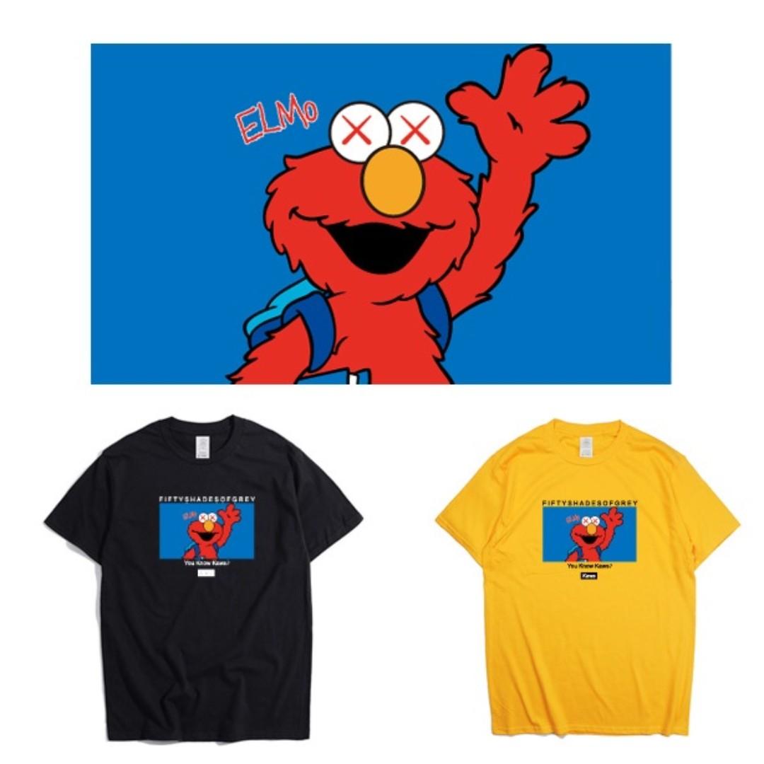 36faf6f378e4e XX Sesame Street Custom Art Designed Kaws Inspired Style Tee, Men's ...