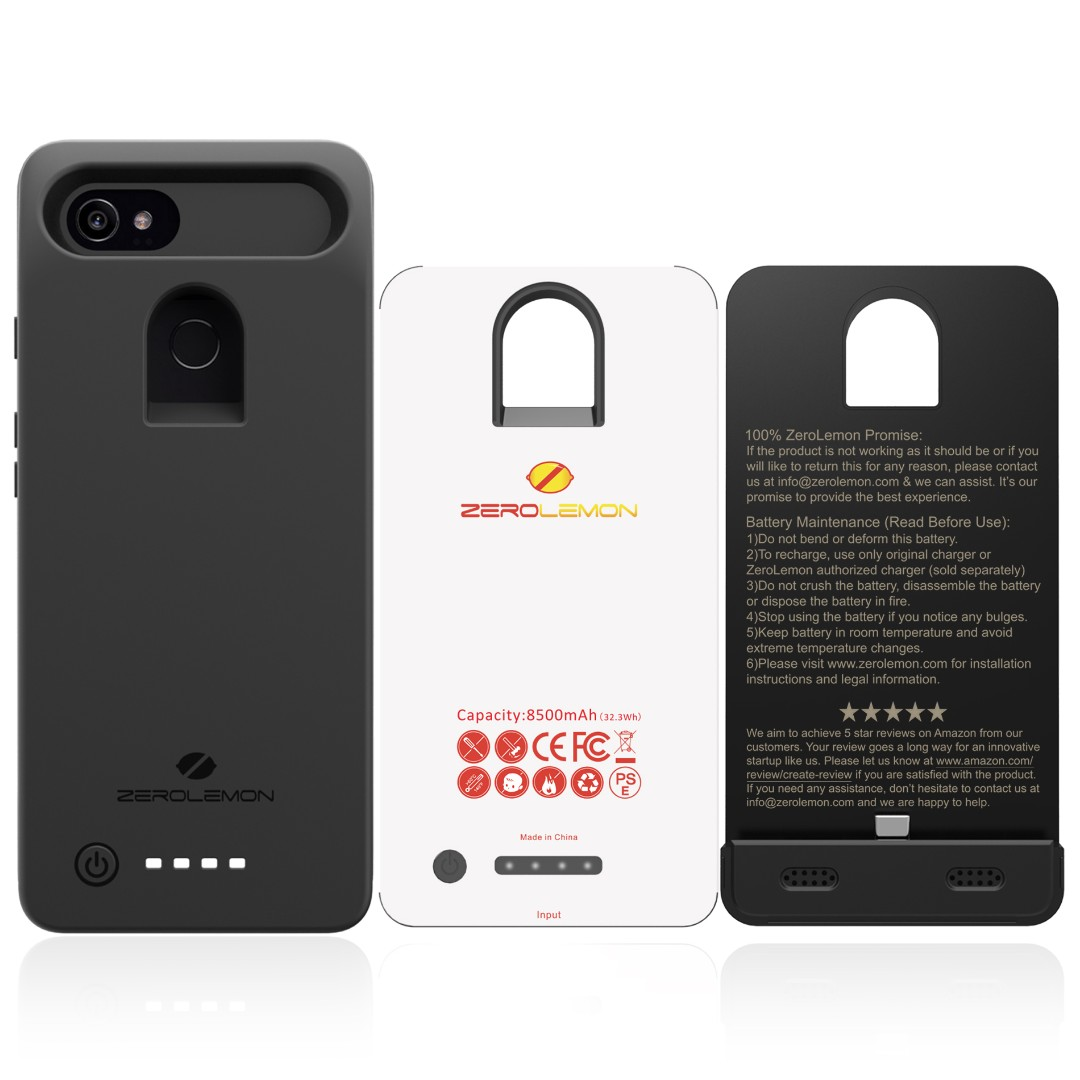 pretty nice f733b 0c96a ZeroLemon 8500mAh Battery Case for Google Pixel 2 XL
