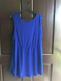 H&M Blue Low Back Dress