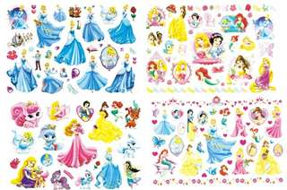 Cinderella Snow White Mermaid Tattoo Temporary Tattoo