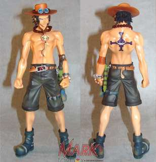 One Piece Portgas D Ace Super DX 28cm 11 inches tall Toy Figure K.O. Banpresto