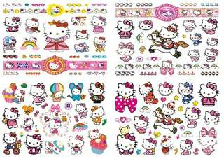 hello Kitty Tattoo Waterproof Temporary Tattoos For Women Girl Body Art Sleeve DIY Stickers Glitter Tattoo Beauty Exotic