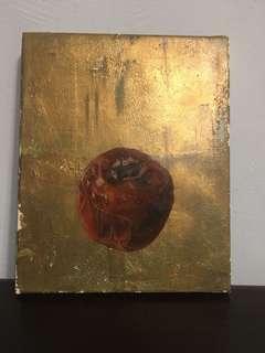 🚚 金箔 油畫 番茄🍅