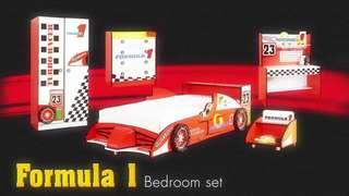Formula 1 Themed Boy Bedside Table