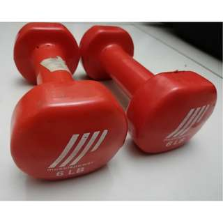 Muscle Power Vinyl Dumbbells (6lbs and 4 lbs)