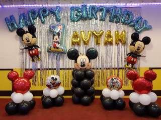 Mickey/Minnie Mouse Theme Party Balloon Decor